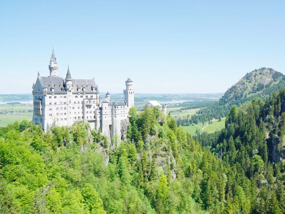 View of Neuschwanstein Castle from Marienbrucke