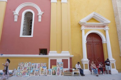Street Art at Cartagena Cathedral | Cartagena