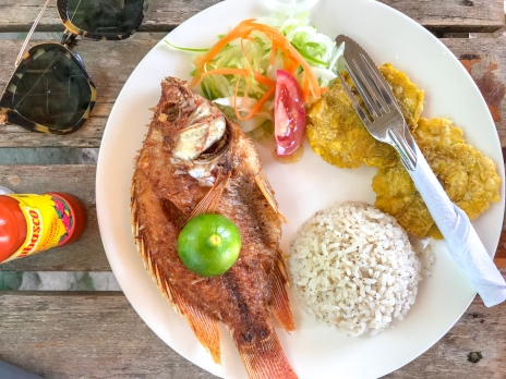 Fried Fish and Coconut Rice